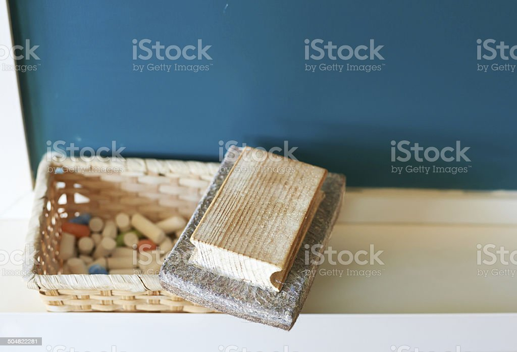 Blackboard eraser. stock photo