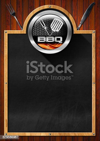 istock Blackboard for Barbecue Menu 529586987