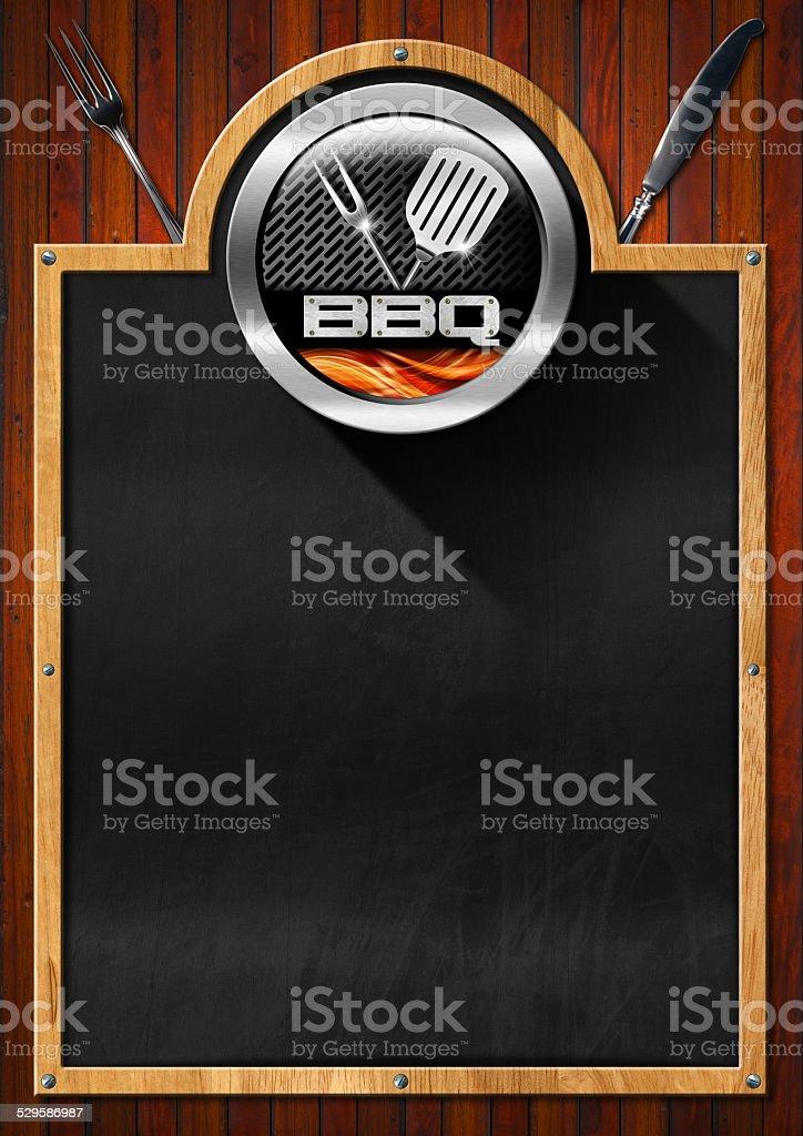 Blackboard for Barbecue Menu stock photo