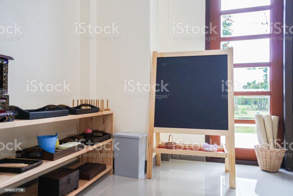 Wandtafel Für Kinder Bildung Mit Spielsachen Im Kinderzimmer ...