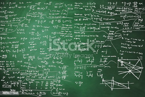 161754253istockphoto Blackboard Full Of Equations 485627946