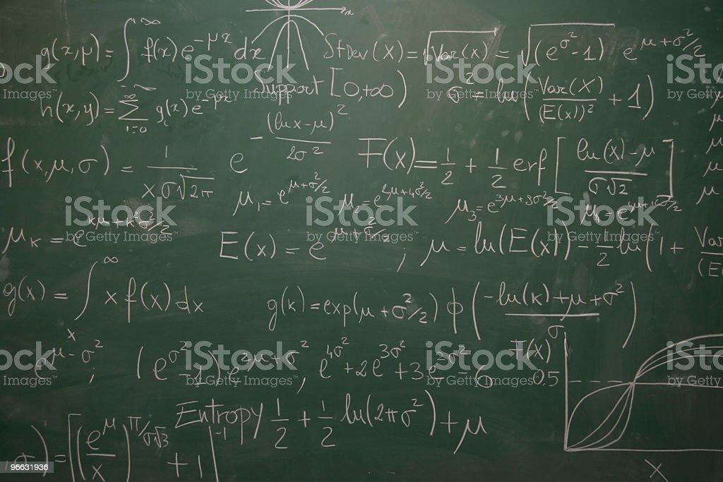 blackboard full of equations royalty-free stock photo