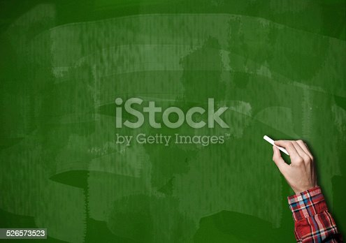 649719220 istock photo Blackboard / Green Background (Click for more) 526573523