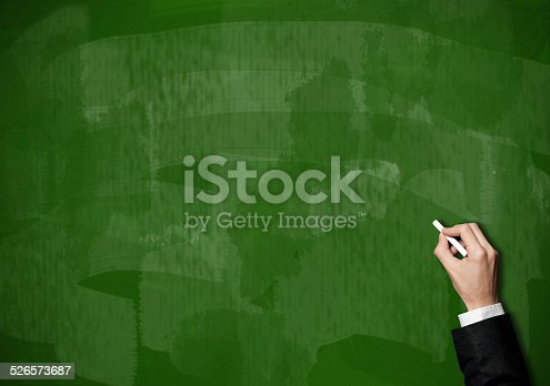 649719220 istock photo Blackboard / Green Background (Click for more) 526573687