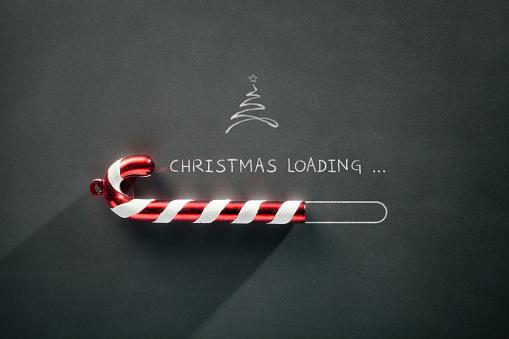 Blackboard Holiday Decoration - Christmas loading Candy Cane