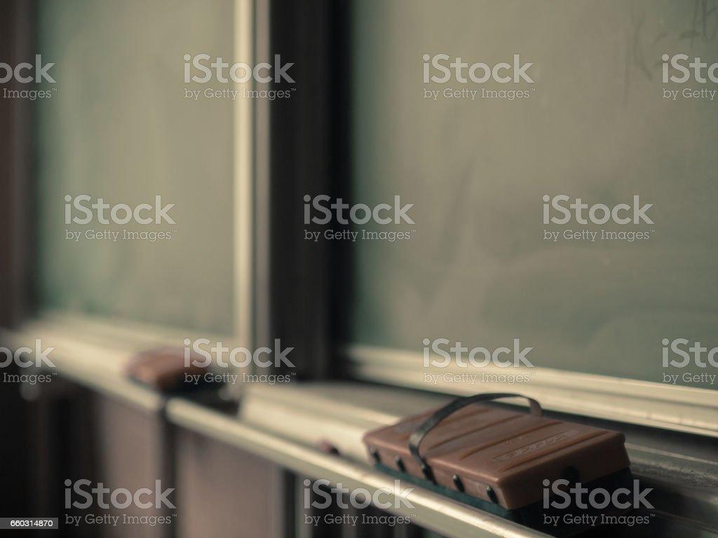 学校の黒板教室の黒板 ストックフォト