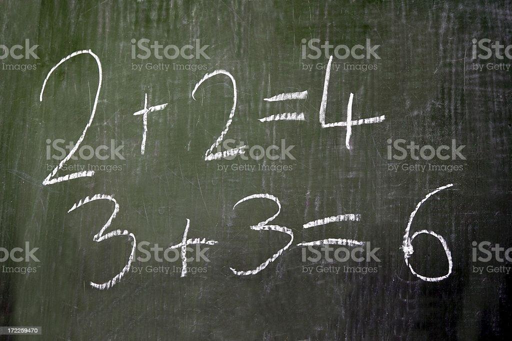 Blackboard Maths sums stock photo