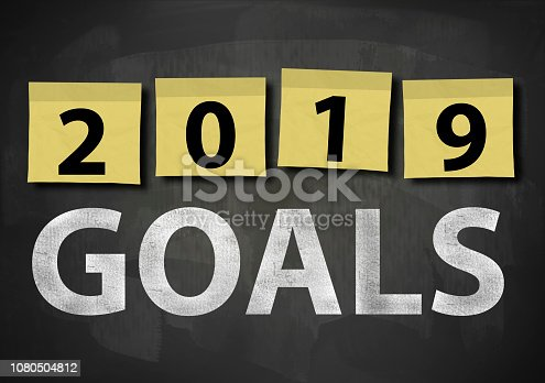 1034181368 istock photo 2019 GOALS / Blackboard notes concept (Click for more) 1080504812