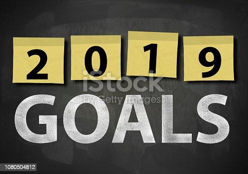 istock 2019 GOALS / Blackboard notes concept (Click for more) 1080504812