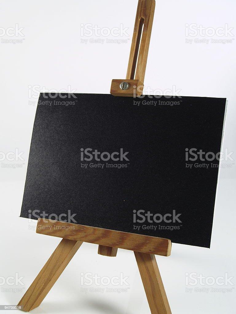 blackboard on easel royalty-free stock photo