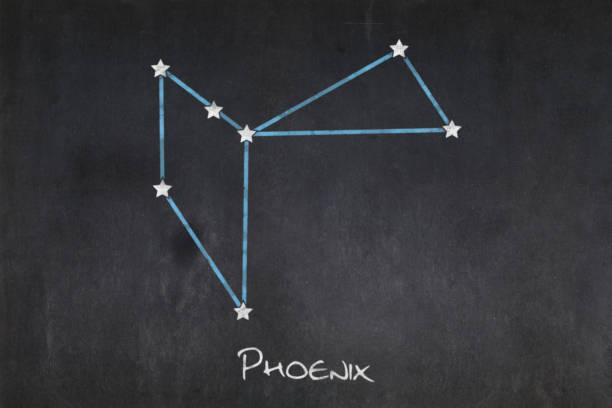 Blackboard - Phoenix constellation stock photo
