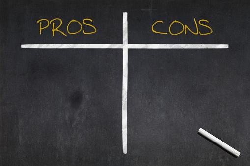 Blackboard Pros Vs Cons Stock Photo - Download Image Now