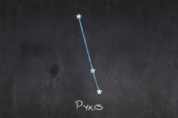 Blackboard - Pyxis constellation stock photo