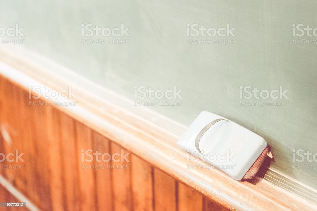 Blackboard, Schoolroom stock photo