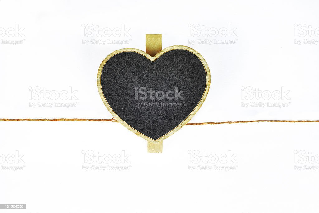 Blackboard shape heart royalty-free stock photo