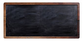 Blackboard sign on white background. 3d illustration