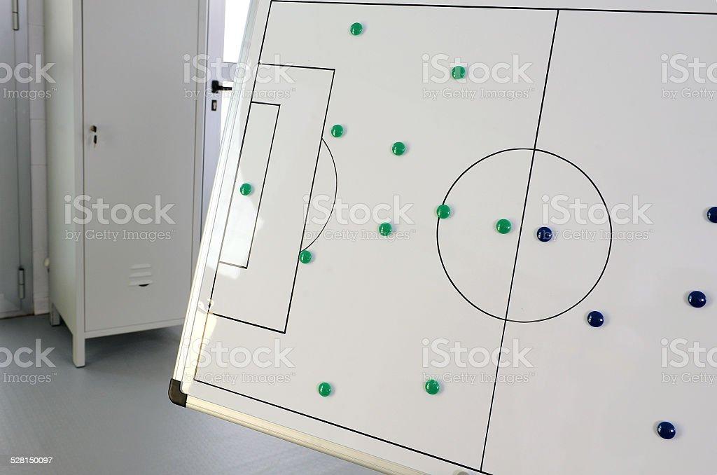 Blackboard technical soccer stock photo