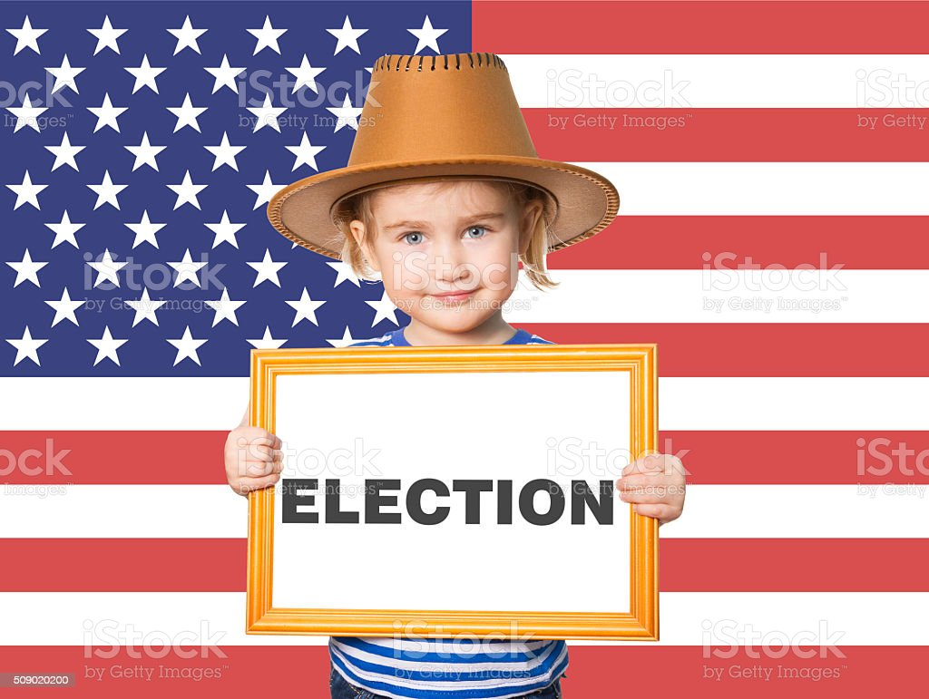 blackboard. Text ELECTION. stock photo