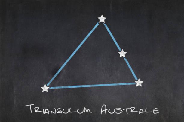 Blackboard - Triangulum Australe constellation stock photo