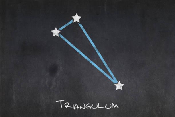 Blackboard - Triangulum constellation stock photo