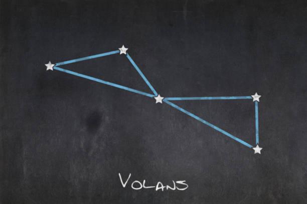 Blackboard - Volans constellation stock photo