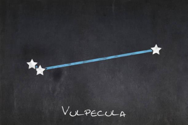 Blackboard - Vulpecula constellation stock photo