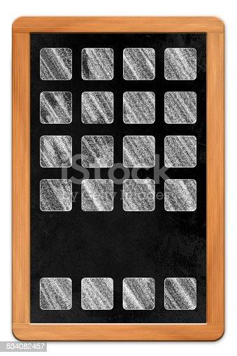 istock Blackboard with App icons 534082457
