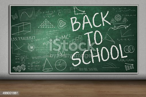 1148553584istockphoto Blackboard with Back to School text 499001881