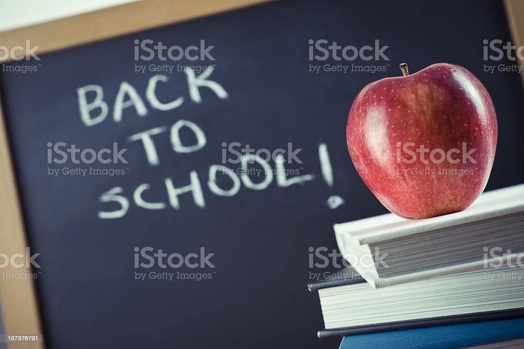 Blackboard with book royalty-free stock photo