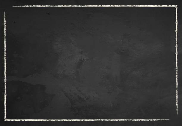 blackboard mit kreidegrenze - kreide stock-fotos und bilder