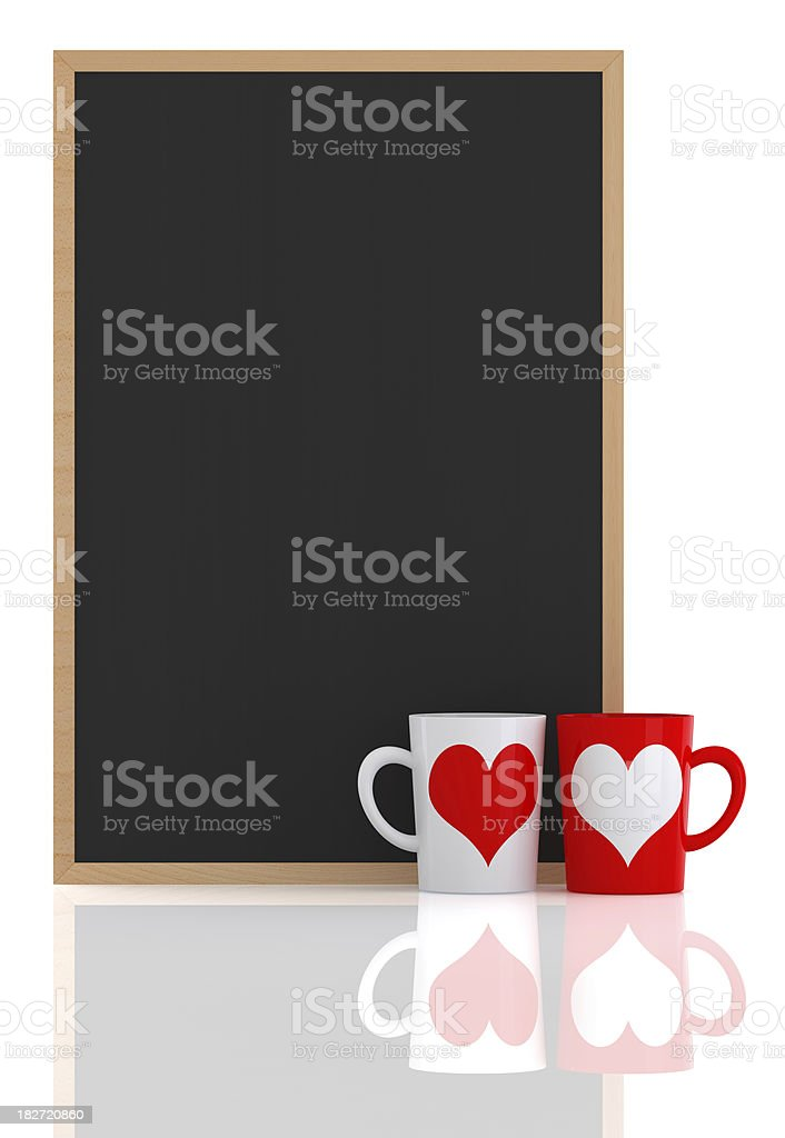 Blackboard with Coffee Cup royalty-free stock photo