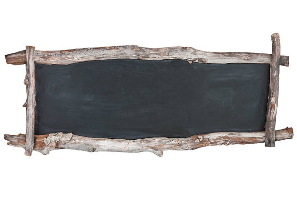 Blackboard with driftwood frame Blackboard with driftwood frame on white background driftwood stock pictures, royalty-free photos & images