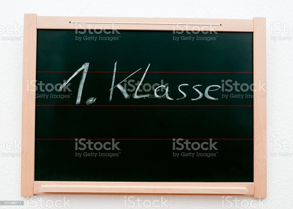 Blackboard with German phrase