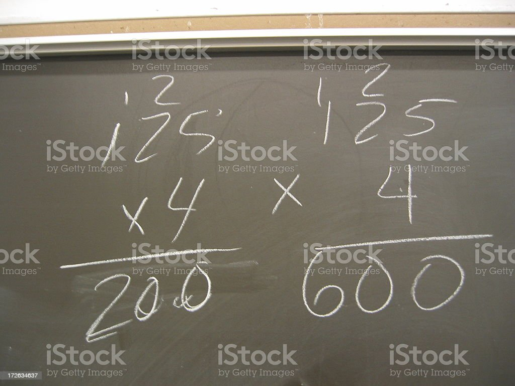Blackboard with Math royalty-free stock photo