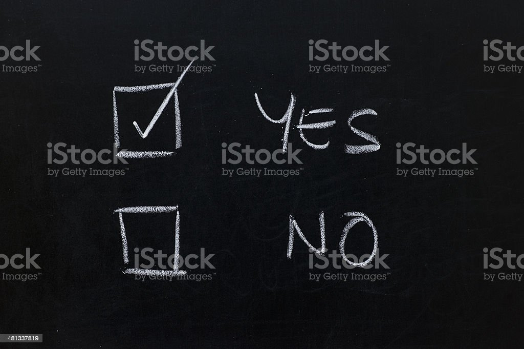 Blackboard with questionnaire royalty-free stock photo