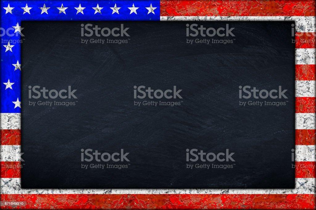 Tafel Mit Usa Flagge Rahmen Stock-Fotografie und mehr Bilder von ...