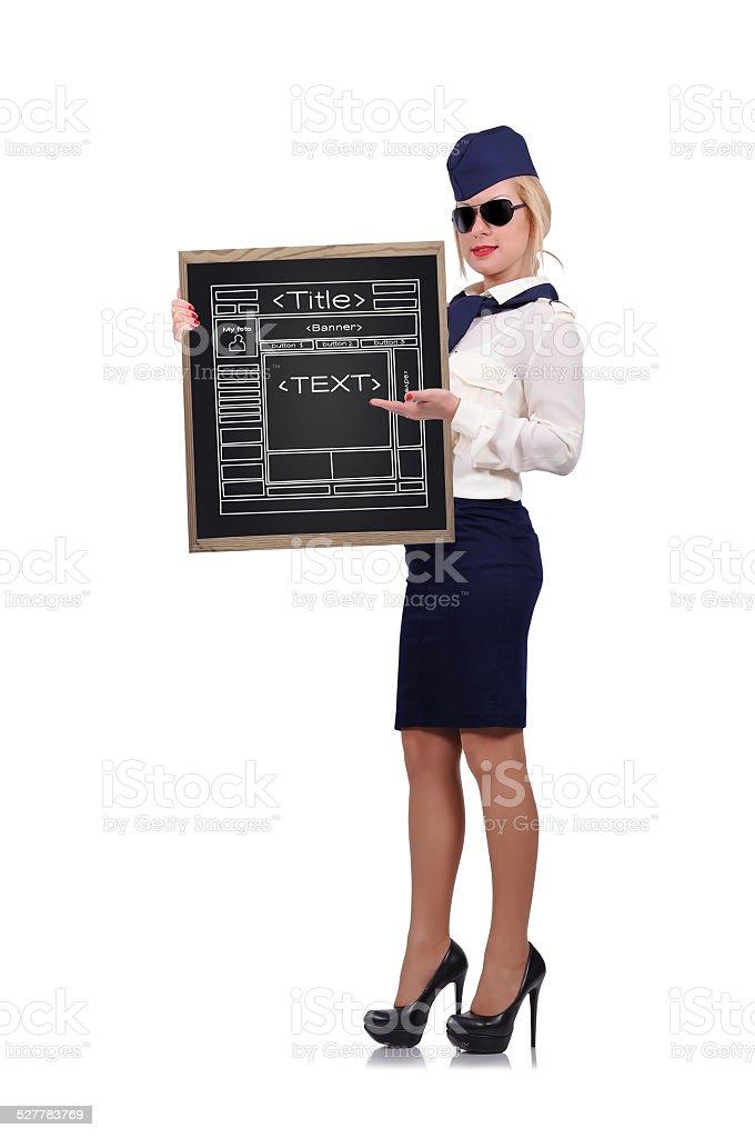blackboard with website stock photo
