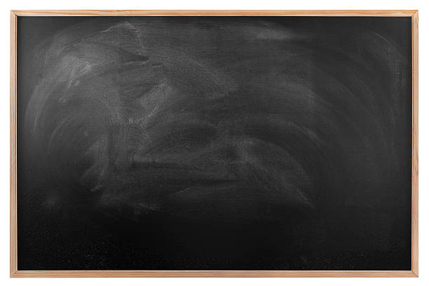 Blackboard with wood frame. stock photo