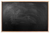 Blackboard with wood frame.