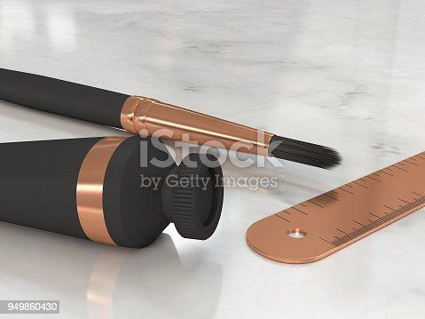 istock black-copper brush color tube ruler on marble floor 3d rendering 949860430