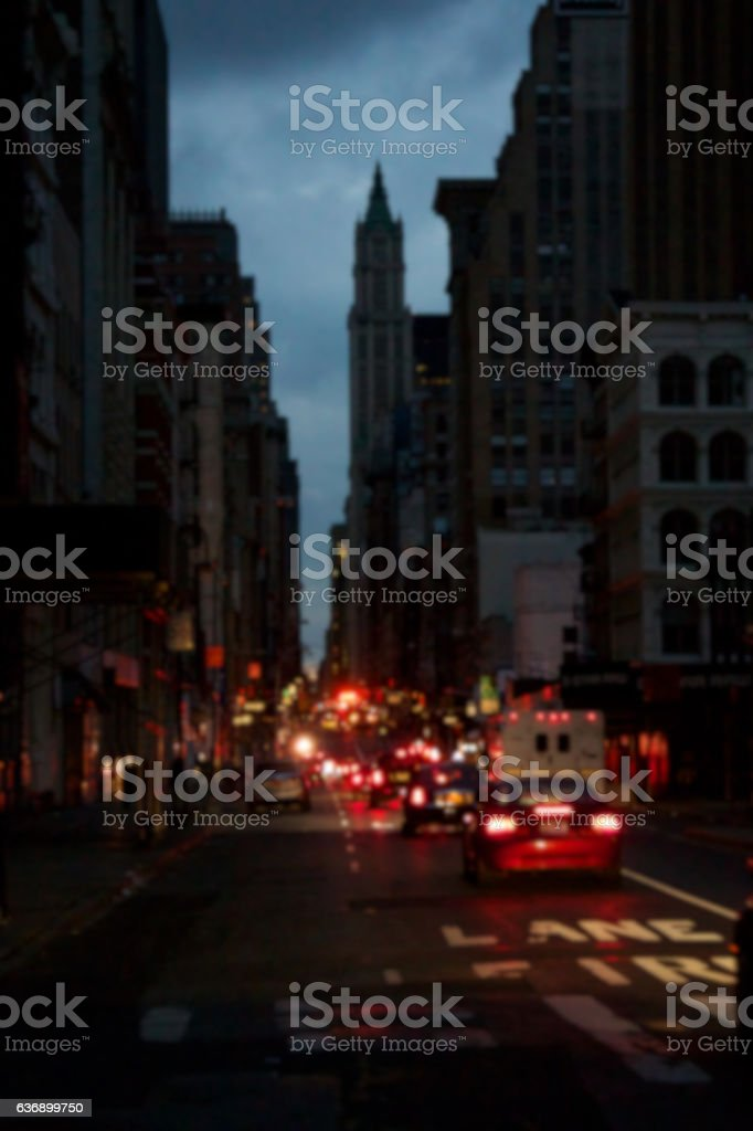 Blacked-Out Manhattan Blur stock photo