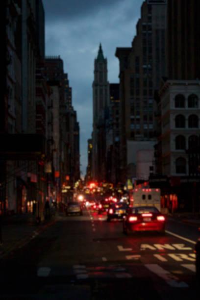 Blacked-Out Manhattan Blur stock photo