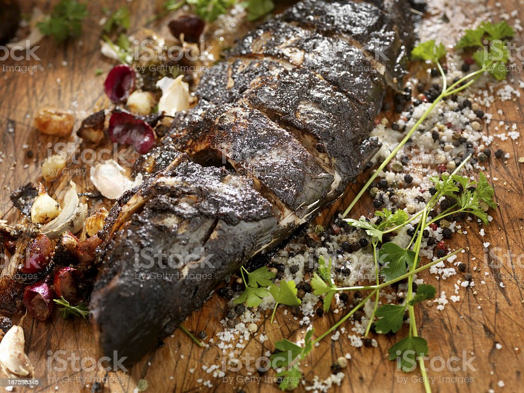Blackened Cajun Sea Bass stock photo