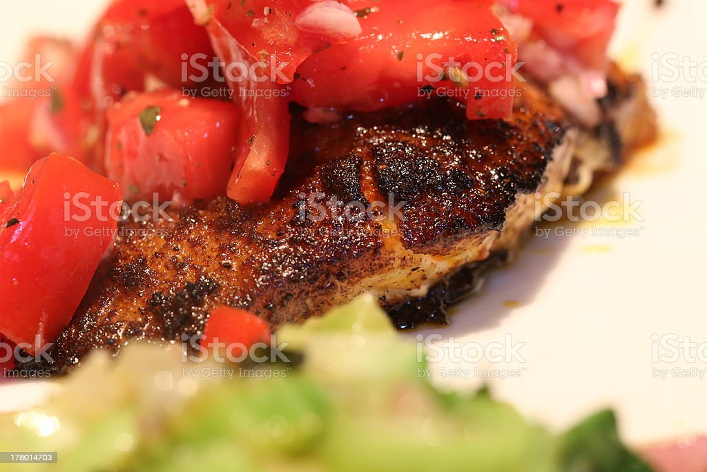 Blackened Cod royalty-free stock photo
