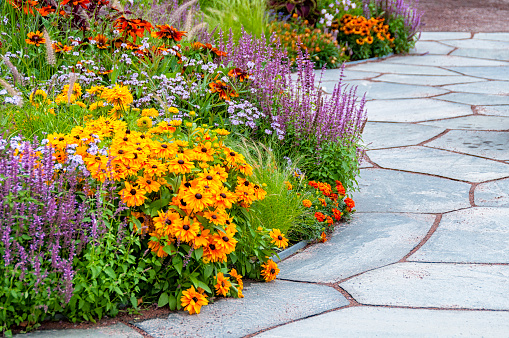 Flowerbeds and slates
