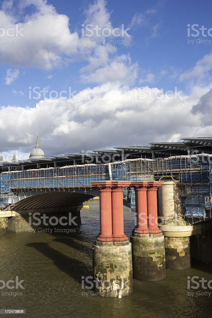 Blackfriars Bridge in London, England royalty-free stock photo