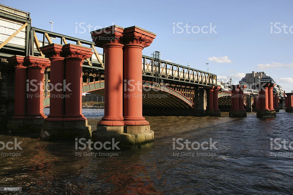 Blackfriars Bridge royalty-free stock photo