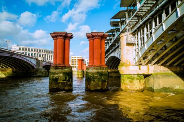 Blackfriars Railway Bridge, London UK stock photo