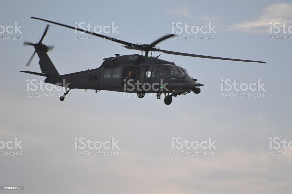 Blackhawk dawn flight stock photo