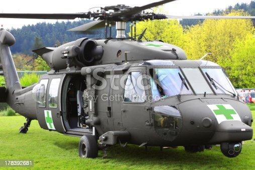 istock Blackhawk Helicopter Medical Evacuation Open Door 178392681